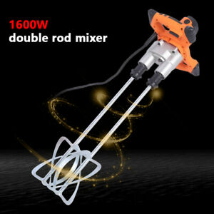 Pro Mixer Stirring Tool 1600w Mixing Paddle For Cement Plaster Grout Thinset