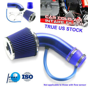 Red 76mm Short Black Cold Air Intake Pipe Kit Cold Air Filter Fit For Honda