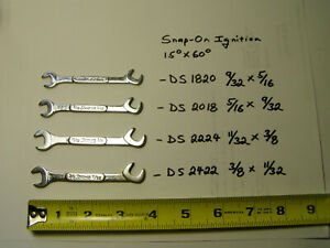 4 Snap On Ds2422 2224 2018 1820 Open End Offset 4 Way Angle Ignition Wrenches