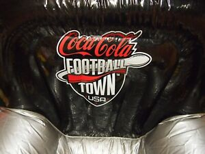 Giant Inflatable Coca Cola Football Town Chair w Ottoman Display Coke Adult