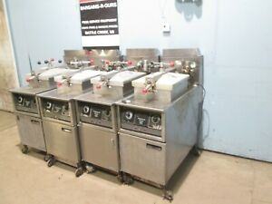 henny Penny 600 Lot Of 4 Commercial Heavy Duty Natural Gas Pressure Fryers