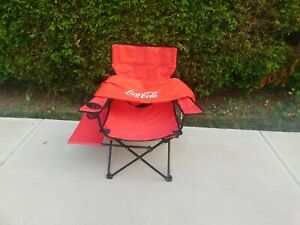 COCA COLA OUTDOOR TAILGATE FOLDING CHAIR RED CLOTH