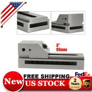 3 Precision Vise Milling Drilling Machine Clamp Cnc Vise Jaw Opening 95mm Usa