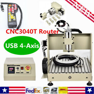 3 4 Axis Cnc 3040 Router Engraver 400 800w Pcb 3d Engraving Woodworking Machine