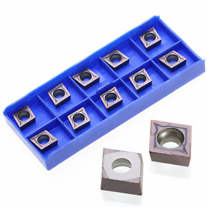 Us 10pcs Ccmt09t304 Vp15tf Carbide Inserts Blades For Lathe Turning Tool Holder