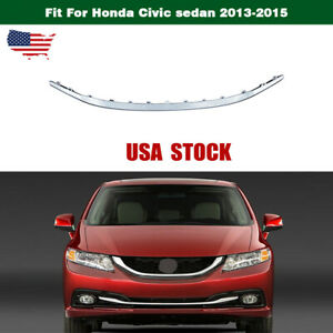Grille Bumper Lower Stripe Front Radiator For Honda Civic Sedan 2013 2015