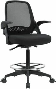 Drafting Chair Tall Office Chair Mesh Computer Chair With Adjustable Height