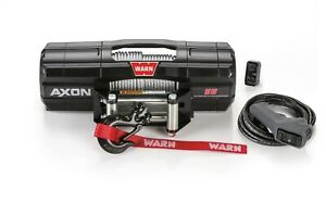 Warn 101155 Axon 55 Powersports Winch 50 Ft Of 1 4 Steel Cable Rope 5 500lbs