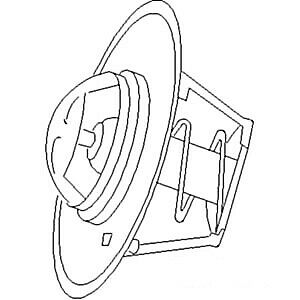 192 Degree Thermostat Fits Ford fits New Holland 420 445 515 3550 4400
