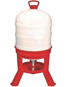 10 Gallon Automatic Gravity Fed Dome Poultry Waterer Chicken Drinker Domewtr10