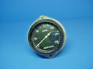 Vintage Sw Stewart Warner Tachometer 150 R p m For Hot Rod Rat Rod