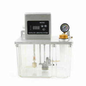 4l Lubrication Pump Cnc Digital Electronic Timer Automatic Oiler 200cc min Used