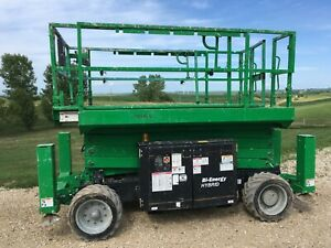 2016 Genie Scissors Lift Man Boom Lift 3369 Be With Outriggers Iowa Can Ship