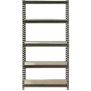 Muscle Rack 5 shelf Steel Shelving Silver vein 12 D X 30 W X 60 H