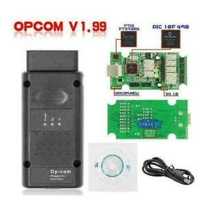 Vauxhall Opel Diagnostic Tool Obdii Opcom V1 99 With Pic18f458 Hotsale W3a2