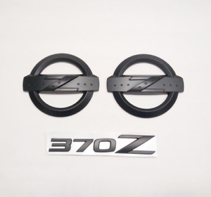 3pcs Z Logo Front Grille Trunk 370z Letters Rear Emblems Fit Fairlady Z34