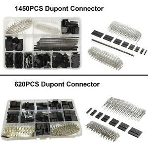 2 54mm Dupont Connector Housing Kit Jumper Wire Pin Header Male Female Crimp