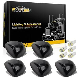 5x Smoke Lens Cab Marker Light 264141bk White 168 5 5050 Led For Dodge Ram 94 98