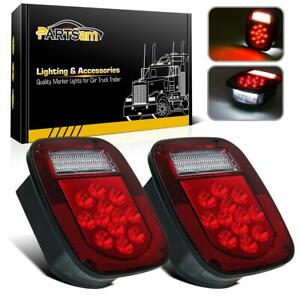 2x 39 Led Stud Mount Stop Turn Tail Lights Lamp For Jeep Wrangler Cj Yj Jk Tj