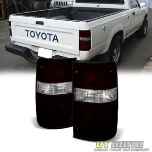 For Red Smoke Factory Style 1989 1995 Toyota Pickup Tail Lights Lamps Left Right