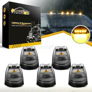 5 Clear amber Roof Cab Marker Running Light For Ford F250 F350 17 19 Super Duty