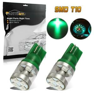 2pcs T10 194 Led Light Bulb 8 2835 smd Interior Dome Map Lights Lamp Green