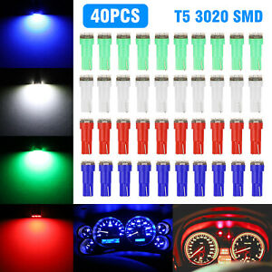40x T5 74 3 Smd 3020 Led Speedometer Instrument Gauge Cluster Dash Light Bulbs