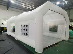 28x15x10ft Portable Inflatable Spray Booth Mobile Car Paint Tent White 2020 New
