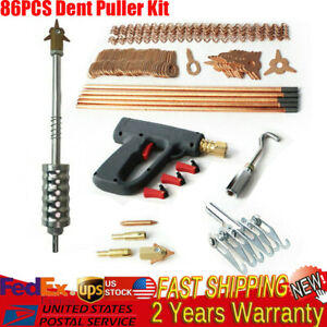 86pcs Dent Puller Kit Car Body Dent Spot Repair Device Welder Stud Welding Tool