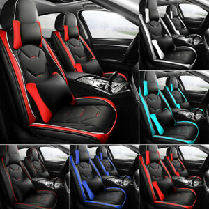 Universal Fit Car Seat Covers Set Front Back Automotive Vehicle Cushion Cover