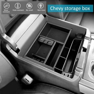 Car Center Console Armrest Organizer Tray Insert For Chevy Silverado gmc Sierra