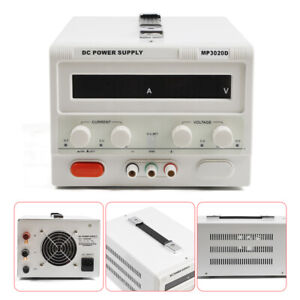 Us Mp3020d Led Variable Linear Adjustable Lab Dc Bench Power Supply 0 30v 0 20a