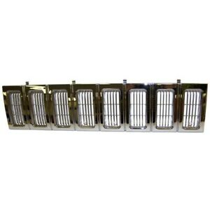 55054890 Grille New Chrome For Jeep Grand Cherokee 1993 1995