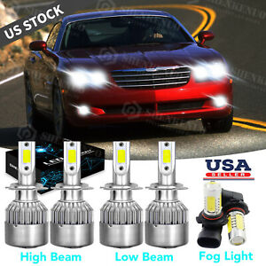 Fit For Chrysler Crossfire 2004 2008 6pc H7 9006 Led Headlight Fog Light Bulbs