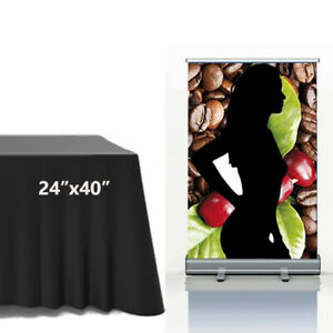 24 x40 Tabletop Standard Retractable Roll Up Banner Stand Trade Show Display
