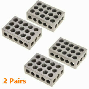 2 Pairs Matched Pair Ultra Precision 1 2 3 Blocks 23 Holes 0001 Machinist 123