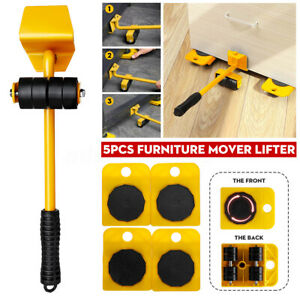 5pcs Portable Furniture Transport Hand Tool 200kg Lifter Heavy Mover