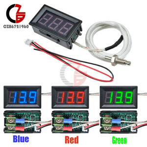 Digital Led Diaplay Thermometer K type M6 Thermocouple Gauge 30c 800c