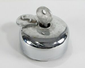 Vintage Studebaker Fuel Tank Locking Gas Cap With Key S Cover Incomplete