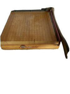 Vintage Ingento No 3 Paper Cutter 10 5 Guillotine Ideal School Supply Company