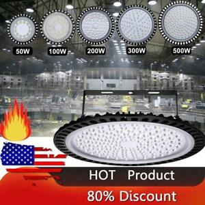 50w 100w 200w 300w 500w Led Ufo High Low Bay Light Factory Warehouse Lighting Us