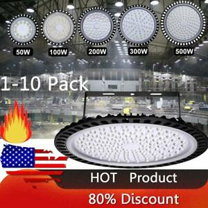 Us Led High Bay Light 500w 300w 200w 100w Watt Warehouse Led Shop Fixture Ufo