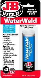 Jb Weld Waterweld 2 Part Epoxy Adhesive Putty Stick Water Proof Marine Weld 8277