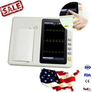 Digital Touch 3 Channel Ecg Ekg Machine Monitor Electrocardiograph 12 Lead Fdace