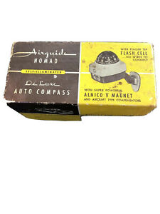 Vtg Airguide Nomad Model 79b Deluxe Compass Auto Truck Boat Accessory With Box