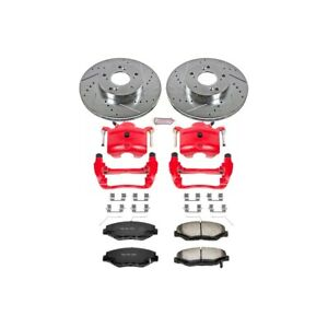 Kc1043a 36 Powerstop Brake Disc And Caliper Kits 2 wheel Set Front Coupe Sedan