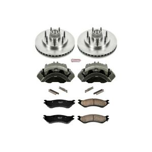 Kcoe5138 Powerstop 2 Wheel Set Brake Disc And Caliper Kits Front For F150 Truck