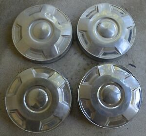 1978 94 Ford Truck Dog Dish Hubcaps 3 4 Ton Stainless Front Rear Set Of 4