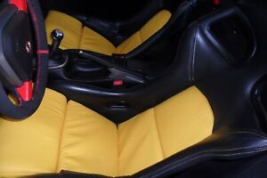 Porsche Gt3 Seat Rare Yellow Leather Cushions Inserts
