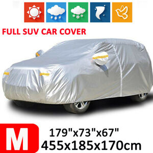 M 190t Full Car Cover Suv Outdoor Waterproof Scratch Dust All Weather Protection
